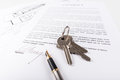 Real estate contract Royalty Free Stock Photo