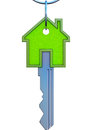 Real estate d illustration of a key symbol Stock Images