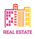 Real estate edifices and residential towers on cities vector illustration Stock Image