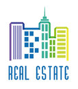 Real estate edifices and residential towers on cities vector illustration Royalty Free Stock Photos