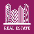 Real estate edifices and residential towers on cities vector illustration Royalty Free Stock Photo