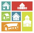Real estate flat over white background vector illustration Stock Photo