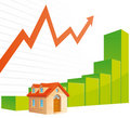 Real estate graph Stock Images
