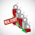 Real estate graph illustration design over a white background Royalty Free Stock Images