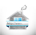 Real estate home and online search bar illustration design over a white background Royalty Free Stock Photo