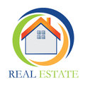 Real estate house logo Stock Photography
