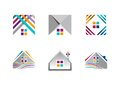 Real estate, house logo, building apartment icons, collection of home construction symbol vector design Royalty Free Stock Photo