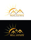 Real estate house logo modern luxury for you company superior quality and easy to edit color change Stock Photography