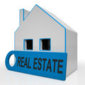 Real estate house means homes or buildings on property market meaning Stock Image
