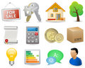Real Estate Icon Set Stock Images