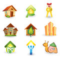 Real Estate -  Icon Set Royalty Free Stock Images
