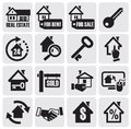 Real estate icons. Royalty Free Stock Photography