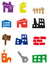 Real estate icons Royalty Free Stock Images