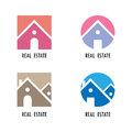Real estate icons and design elements.Colorful real estate, city