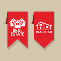Real estate icons over beige background vector illustration Stock Image