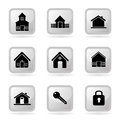 Real estate icons over white background vector illustration Stock Images