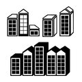 Real estate icons over white background vector illustration Stock Photo