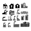 Real estate icons over white background vector illustration Royalty Free Stock Photos