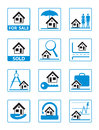 Real estate icons set Royalty Free Stock Photos