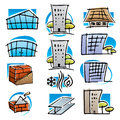 Real estate icons set. Royalty Free Stock Photo