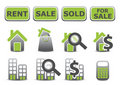 Real estate icons set Royalty Free Stock Images