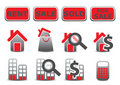 Real estate icons set Royalty Free Stock Image