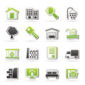 Real estate icons vector icon set Stock Images