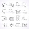 Real estate icons vector icon set Royalty Free Stock Photo