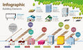 Real estate infographic it contains many lovely house icons Stock Photography
