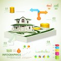 Real estate infographic illustration of showing housing related information Royalty Free Stock Photography