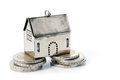 Real estate investment on reliable foundation, small  model hou Royalty Free Stock Photo