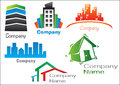 Real Estate Logo Pack 2 Royalty Free Stock Image
