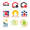 Real estate logos Royalty Free Stock Photos