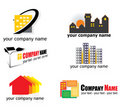 Real estate logos Stock Photography