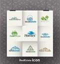 Real Estate Logos Royalty Free Stock Photo