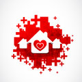 Real estate love design abstract background Royalty Free Stock Photography