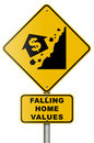Real Estate Market Collapse Road Sign on White Royalty Free Stock Photo