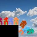 Real estate market crisis - concept image Royalty Free Stock Photo