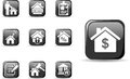Real estate and mortgage icons set i have created in vector Royalty Free Stock Photos