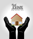 Real estate over gray background vector illustration Royalty Free Stock Photography
