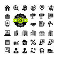 Real estate property realtor icon set web icons Royalty Free Stock Photo