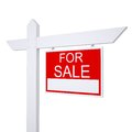Real estate for sale sign isolated render on white background Royalty Free Stock Images