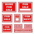 Real Estate for sale signs Stock Image