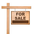 Real estate sign isolated. Stock Images