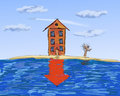 Real estate, slump in prices Royalty Free Stock Photo