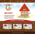 Real estate template with illustration for website Royalty Free Stock Photos