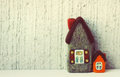 Real estate toy houses little Royalty Free Stock Images