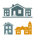 Real estate vector icons editable set Royalty Free Stock Image
