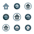 Real estate vector icons set realty theme symbols collection Royalty Free Stock Images