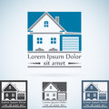 Real Estate vector logo design template color set. House abstract concept icon. Realty construction architecture symbol